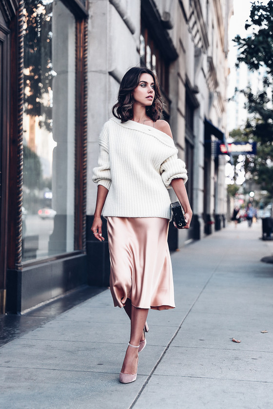 silk skirt knit