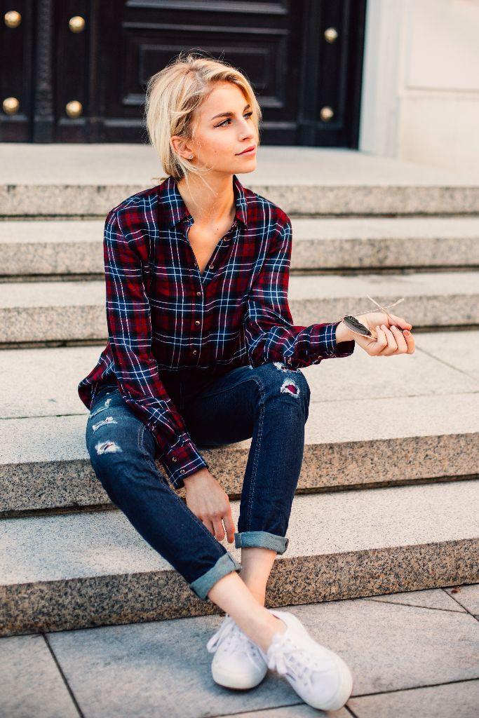 Womens Plaid Flannel Shirt