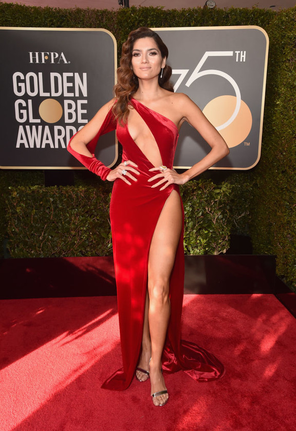 golden globes stars who didnt wear black Blanca Blanco