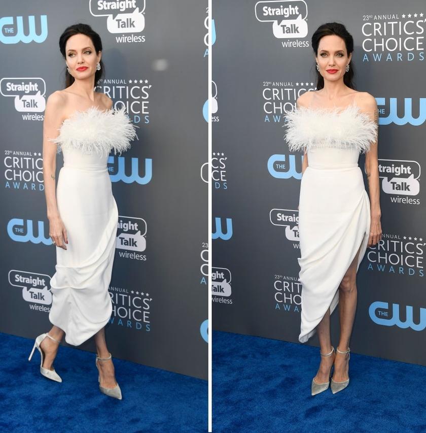 Angelina Jolie Critics Choice Awards white dress 3