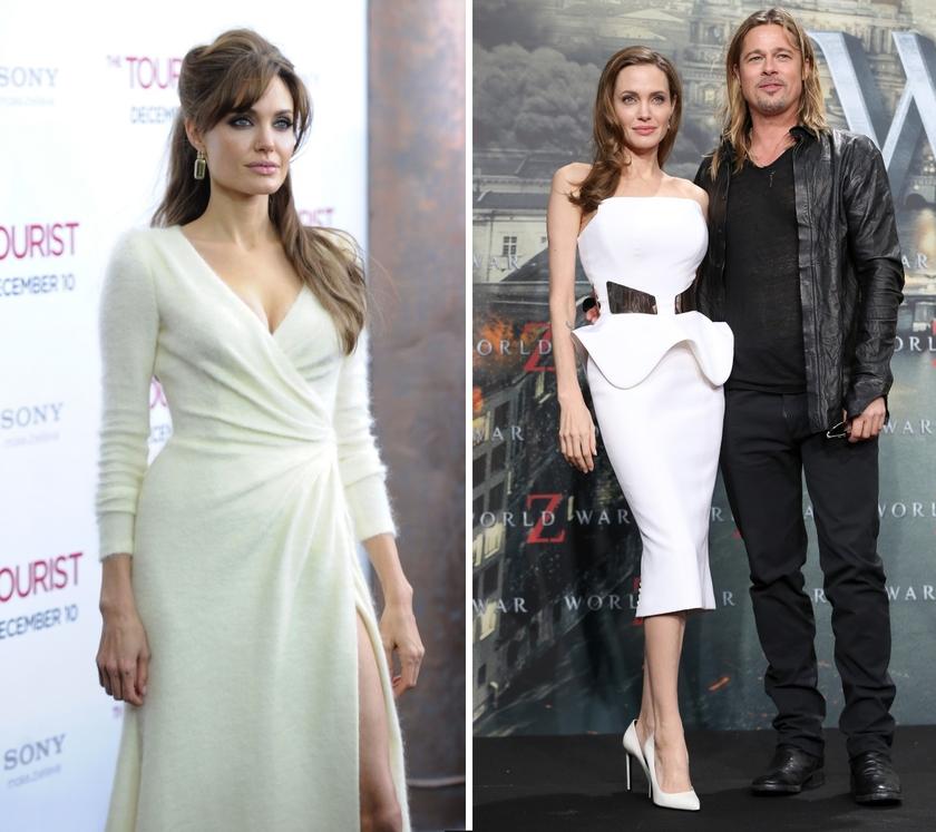 angelina jolie white dress tourtist world war z premiere