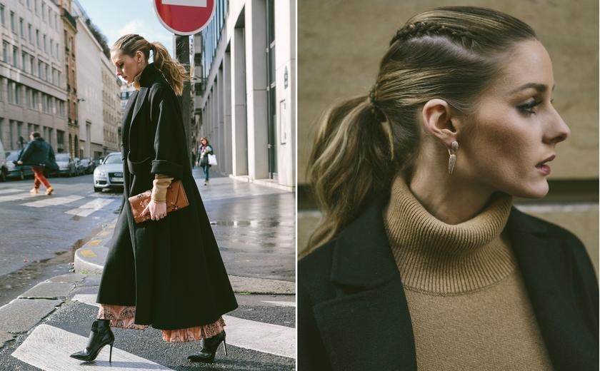 olivia palermo braided ponytail