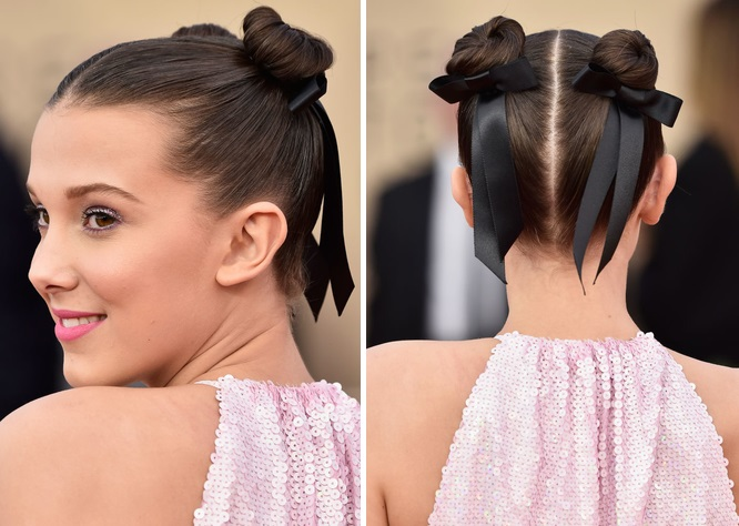 millie bobby brown SAG awards hair